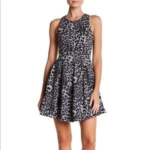 NWTs HEATHER x BORDEAUX • Leopard Pleated Dress